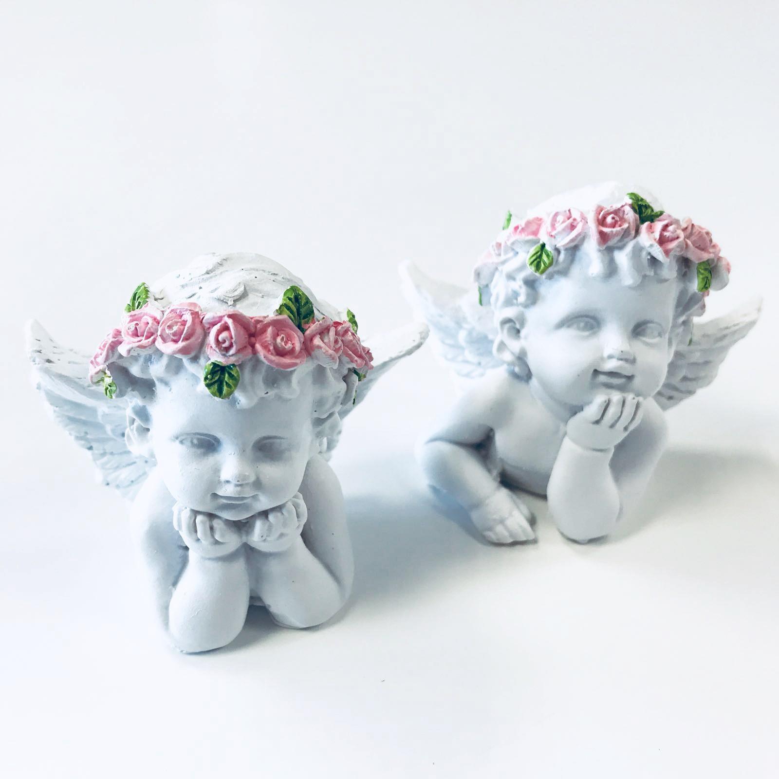Hlava a Ramínka Anděla s Růžovou Růží