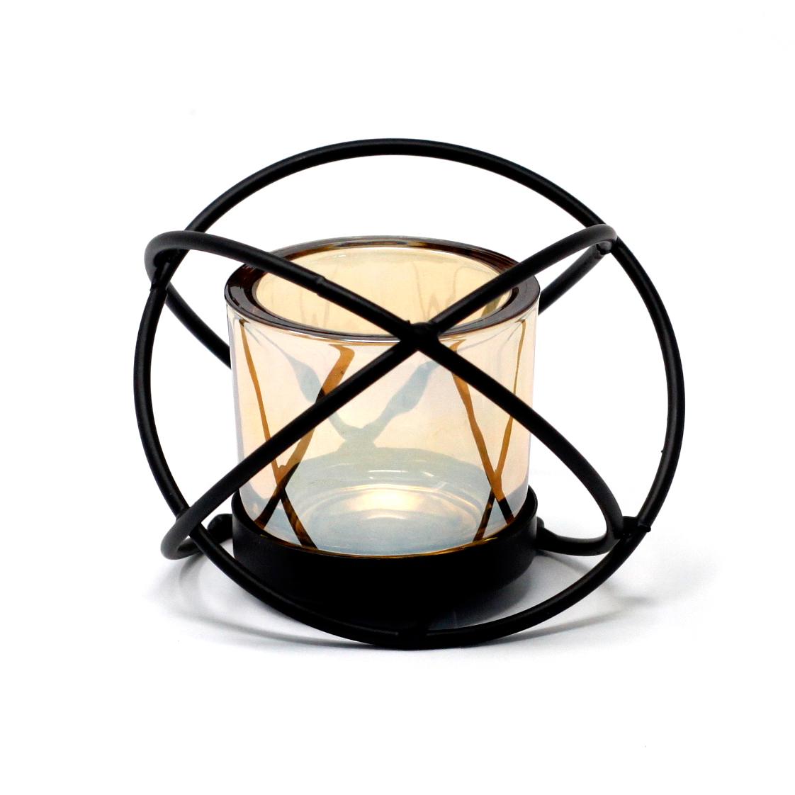 Kovový Votivní Svícen - na 1 Svíčku - Koule