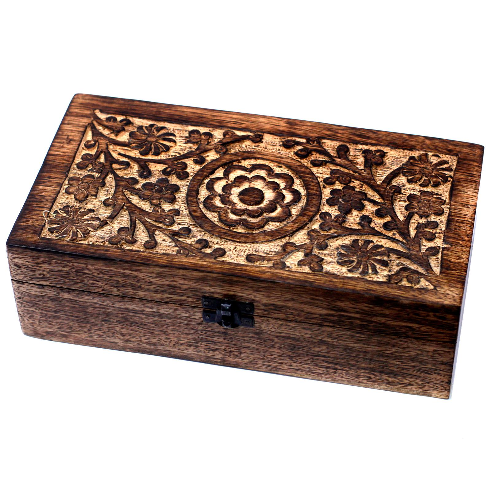 Mangová Květinová Krabička na Esenciální Oleje - 12 Lahviček