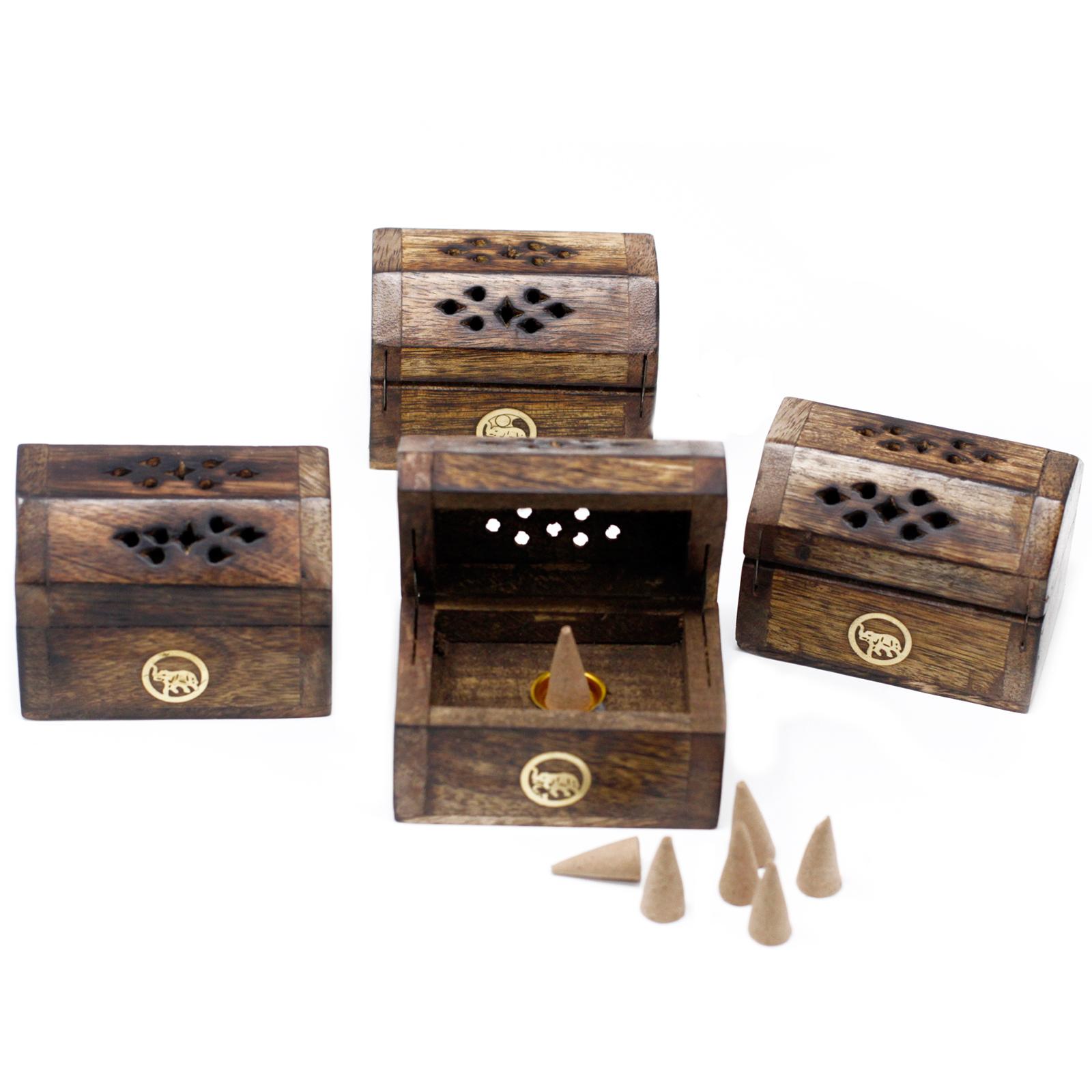 Malé Krabičky pro Vonné Kužele - Mangové Dřevo
