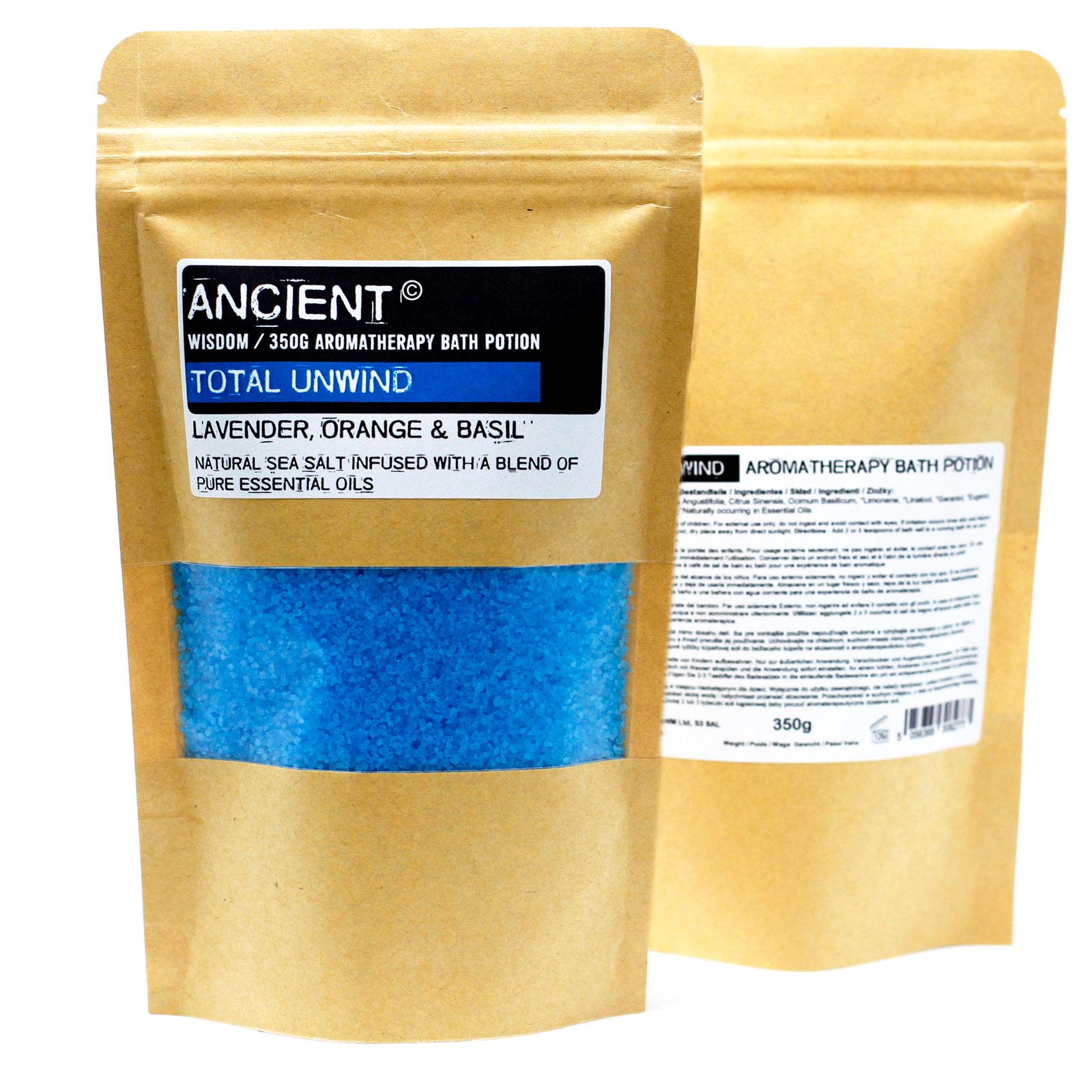 Aromaterapeutické Soli do Koupele v Sáčcích 350g - Úplné Uvolnění, 5 ks