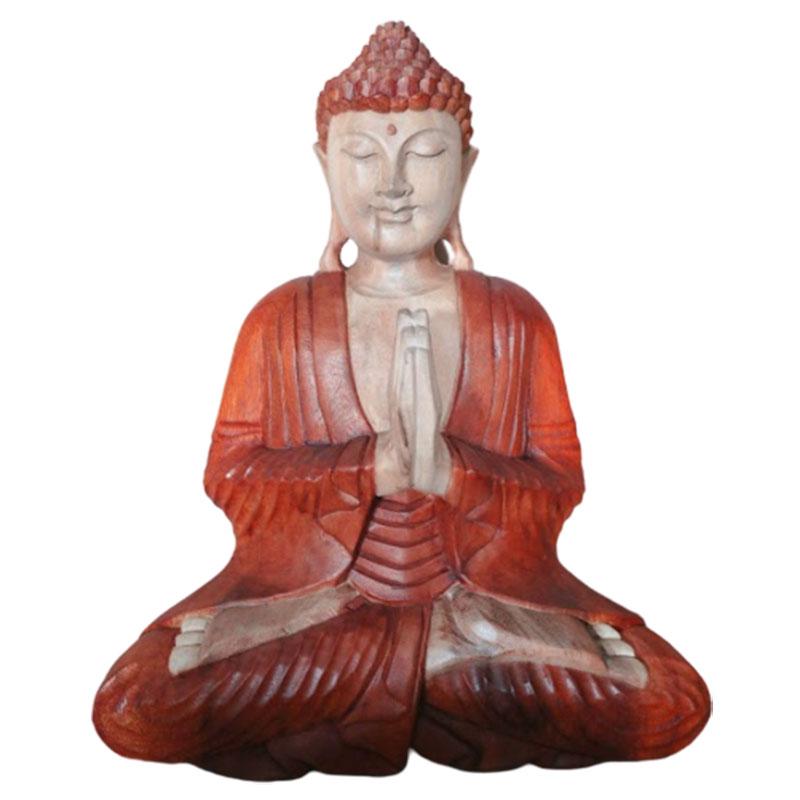 Ručně Vyřezávaná Socha Buddhy - Vítejte - 30cm