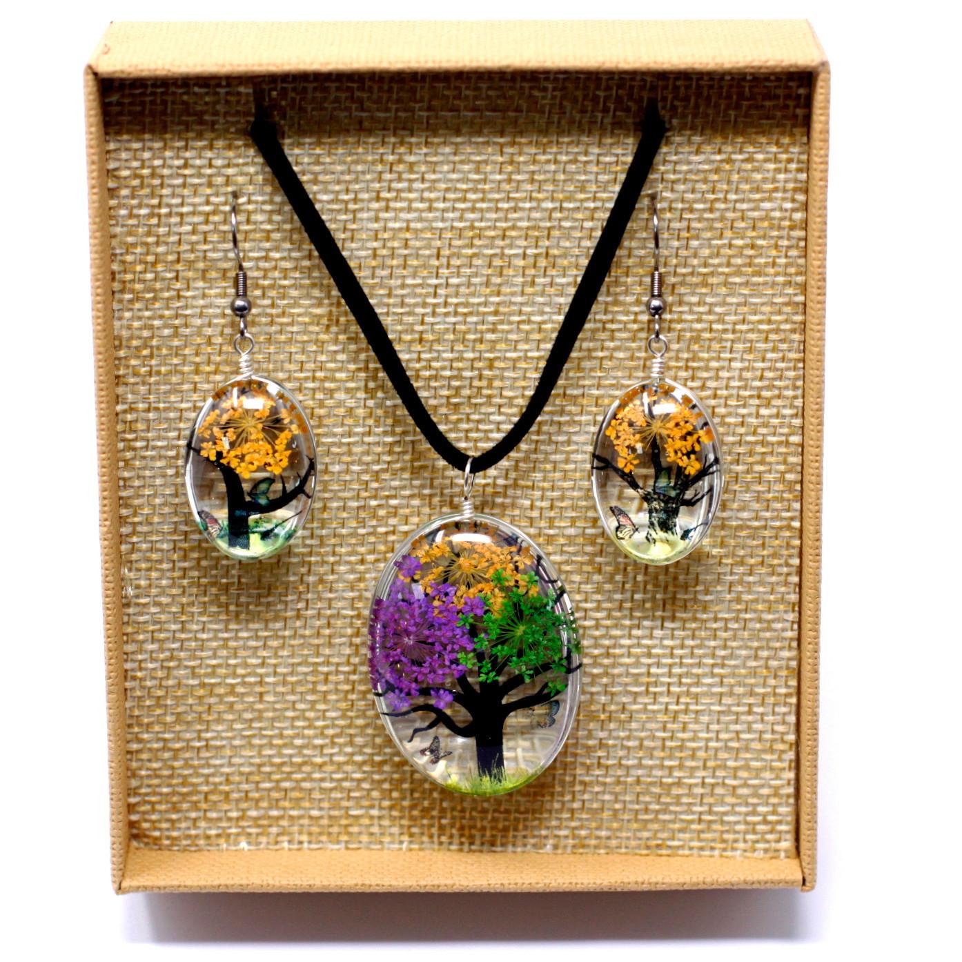 Lisované Květy - sada Strom Života - Pestrá