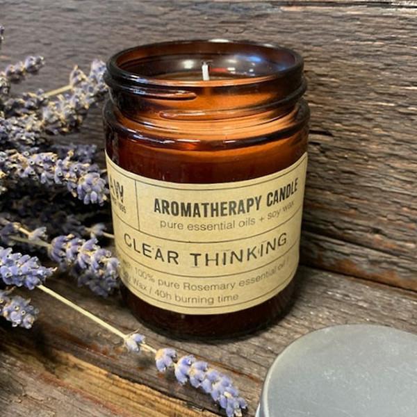 Aromaterapeutická Sójová Svíčka 200g - Jasné Myšlení