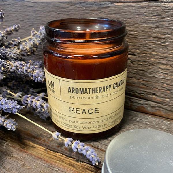 Aromaterapeutická Sójová Svíčka 200g - Mír