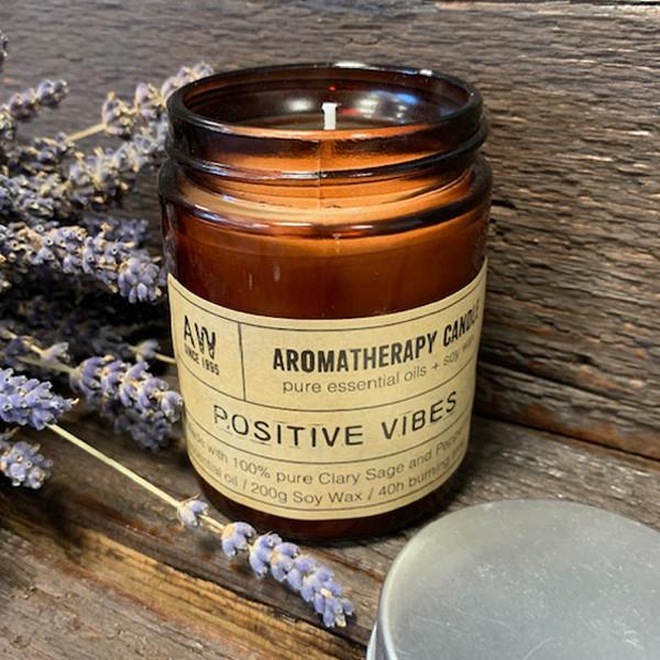 Aromaterapeutická Sójová Svíčka 200g - Pozitivní Vibrace