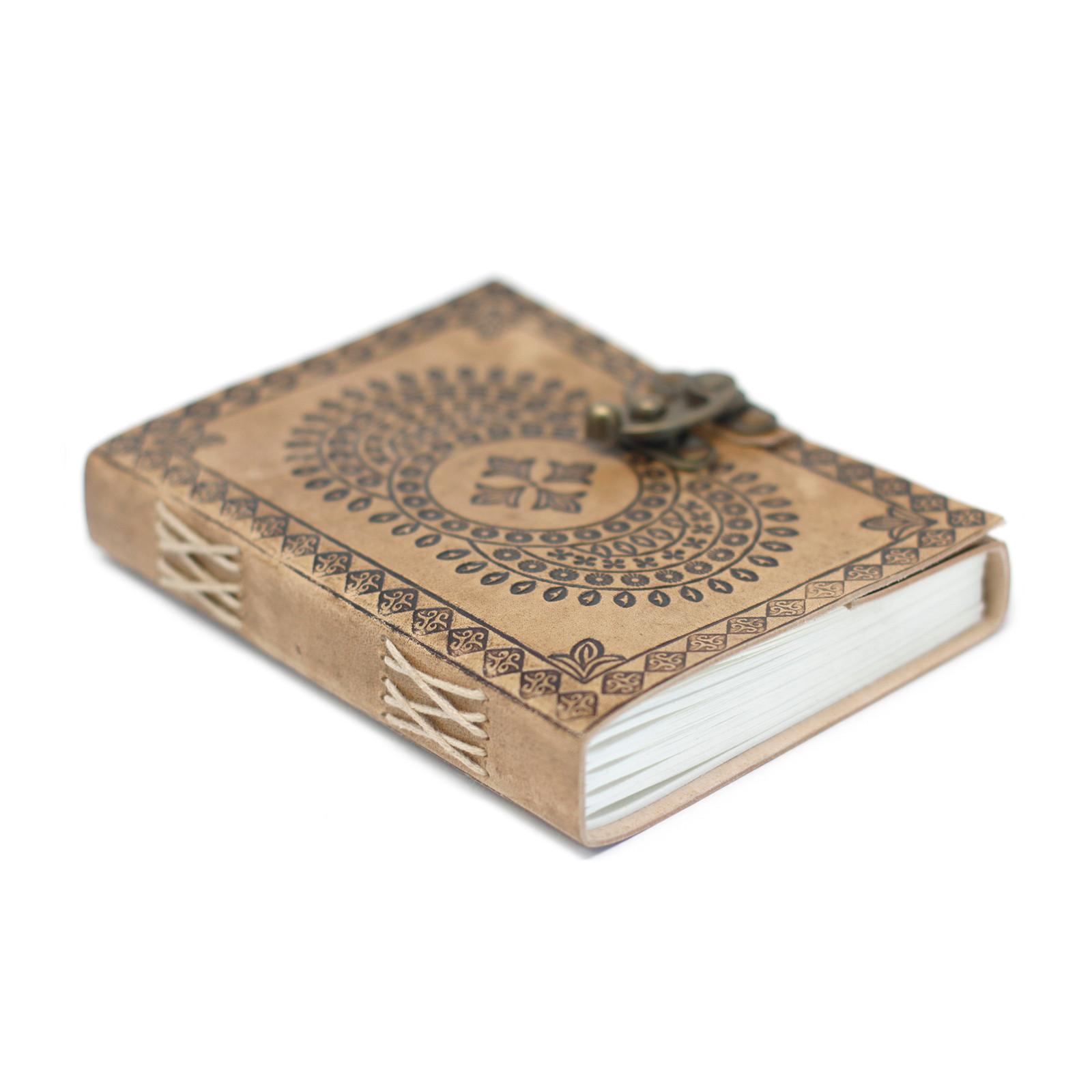 Kožený zápisník 18x13 cm - Mandala