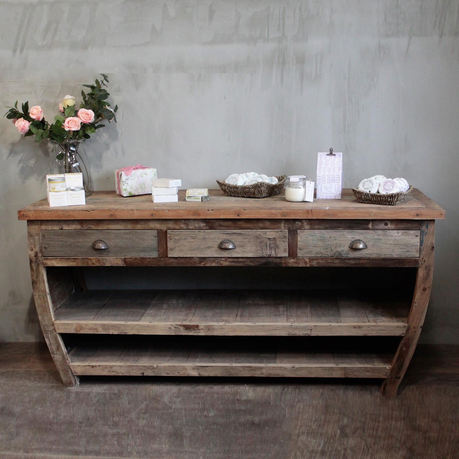 Stůl z recyklovaného dřeva - BALI - 180x60x80cm - ruční výroba
