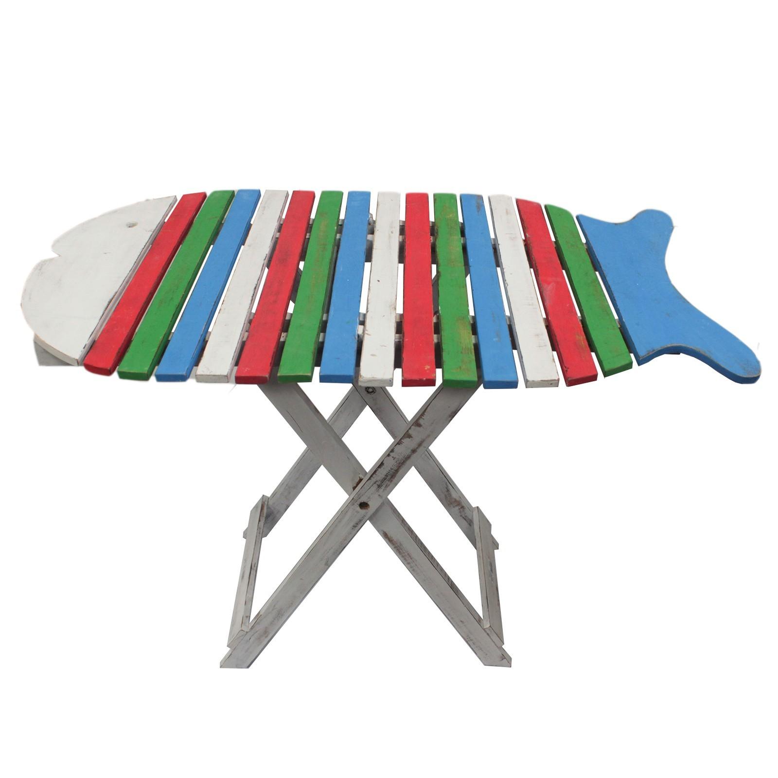 Skládací stůl Ryba - Pestrý